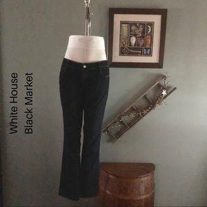 WHBM dark wash slim leg jeans